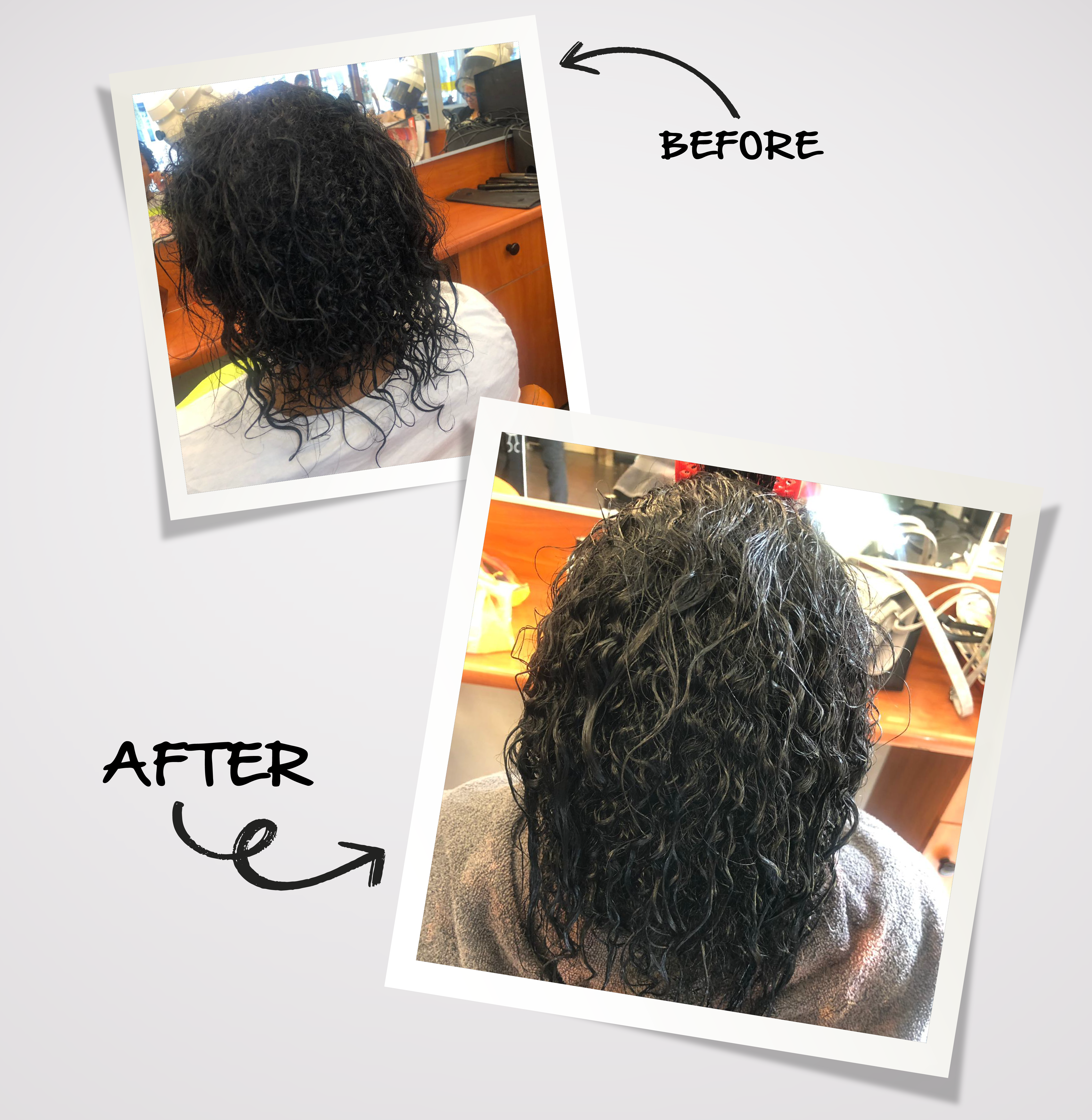 Volle haren before and after